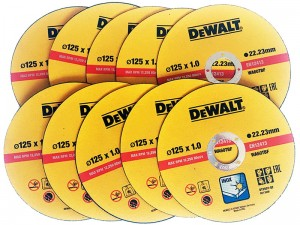10 tarcz do cięcia stali inox DeWalt DT42340-QZ 125/1 w sklepie Wasserman.eu