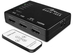 Switch HDMI 4K HDMI x5 splitter with MT5207 remote control at Wasserman.eu
