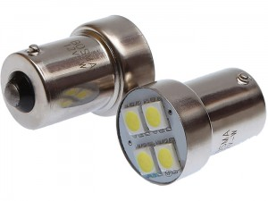 Car LED bulbs 12V BA15s 4XSMD at Wasserman.eu