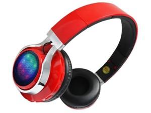 Wireless Bluetooth headphones LED red at Wasserman.eu