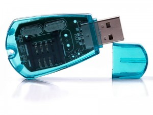 USB SIM card reader telephone card adapter at Wasserman.eu