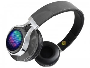 Wireless bluetooth headphones gray LED at Wasserman.eu