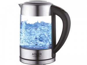 1.7L glass kettle with temperature control and led color change at Wasserman.eu