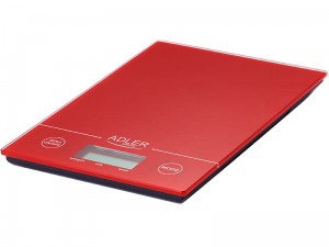 Electronic kitchen scale with LCD up to 5kg red at Wasserman.eu