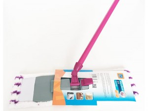 Ravi flat microfibre mop purple with joint at Wasserman.eu