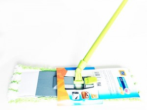Ravi microfibre flat mop green with joint at Wasserman.eu