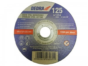 Dedra 125x22,2x1mm steel cutting disc at Wasserman.eu