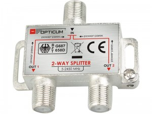 Antenna splitter, 1x2 TV splitter at Wasserman.eu