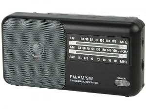 Portable analogue AM / FM Blow battery operated radio at Wasserman.eu