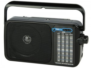Portable radio with AM / FM Blow battery operated handle at Wasserman.eu