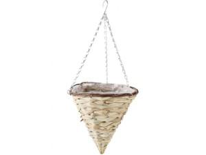 Wicker basket / flowerbed hanging cone at Wasserman.eu
