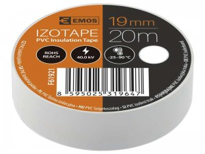 19/20 PVC insulating tape on white at Wasserman.eu