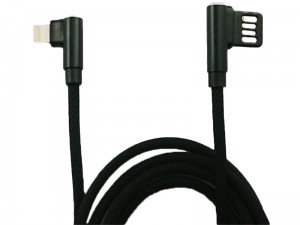 Angled USB cable - iPhone Lightning 120 cm braid at Wasserman.eu