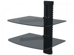 TV shelf. Glass, double DVD, decoder, console at Wasserman.eu