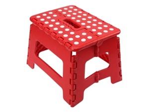 Folding non-slip small red stool at Wasserman.eu