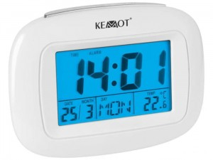 Alarm clock. Time, date, day of the week, temperature at Wasserman.eu