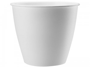 Azalia flower pot, 15 cm height, 13.9 cm diameter white at Wasserman.eu