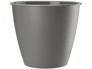 Azalia flower pot, 15 cm height, 13.9 cm diameter gray at Wasserman.eu