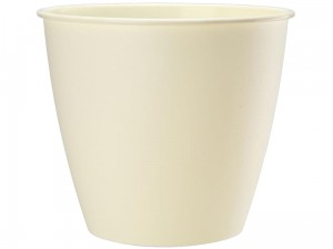 Azalia flowerpot casing height 19cm diameter 17,6cm cream at Wasserman.eu