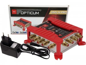 Multiswitch 5/4 Opticum OMS 54 Pro + power supply at Wasserman.eu