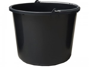 12L black construction bucket with handle at Wasserman.eu