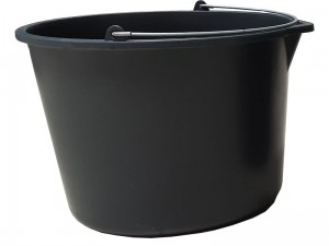 Construction bucket 15L black funnel handle at Wasserman.eu