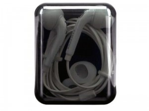 Samsung earphones with black box at Wasserman.eu