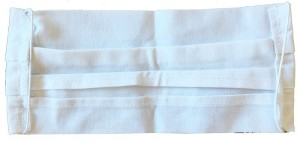 Maseczka wielorazowa bawełniana 2 warstwy Biała w sklepie Wasserman.eu
