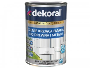 Enamel Dekoral Emakol Strong White matt 0.9L at Wasserman.eu
