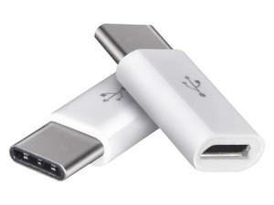 Two micro USB to USB type C adapter at Wasserman.eu