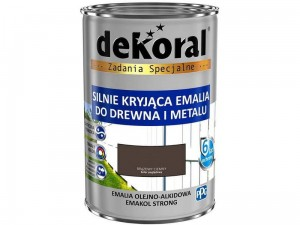 Enamel Dekoral Emakol Strong Dark Brown 0.9L at Wasserman.eu