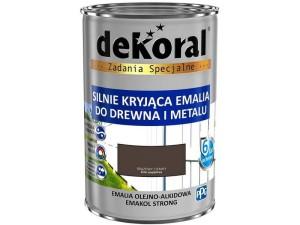 Enamel Dekoral Emakol Strong Dark Brown Mat 0.9L at Wasserman.eu