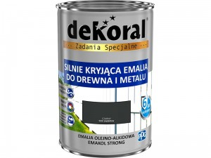 Enamel Dekoral Emakol Strong Black Mat 0.9L at Wasserman.eu
