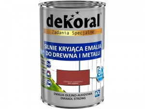 Enamel Dekoral Emakol Strong Red Carmine 0.9L at Wasserman.eu