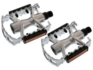 Aluminum pedals with reflectors silver FP-961 at Wasserman.eu