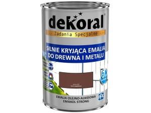 Enamel Dekoral Emakol Strong Mahogany 0.9L at Wasserman.eu