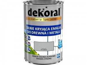 Enamel Dekoral Emakol Strong Gray 0.9L at Wasserman.eu