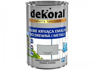Enamel Dekoral Emakol Strong Gray Mat 0.9L at Wasserman.eu