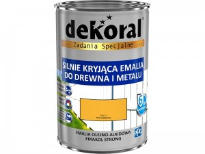 Enamel Dekoral Emakol Strong Yellow 0.9L at Wasserman.eu