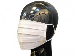 Reusable cotton protective mask with elastic band at Wasserman.eu