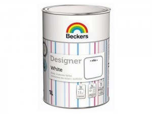 White Beckers matt latex paint 1l at Wasserman.eu