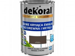 Enamel Dekoral Emakol Strong Brown 0.9L at Wasserman.eu