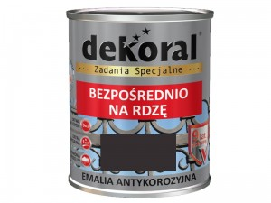 Dekoral Anticorrosive Enamel Brown chocolate gloss 0.65L at Wasserman.eu