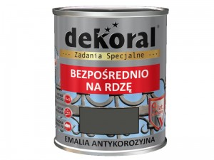 Enamel Dekoral Anticorrosive Gray steel Gloss 0,65L at Wasserman.eu
