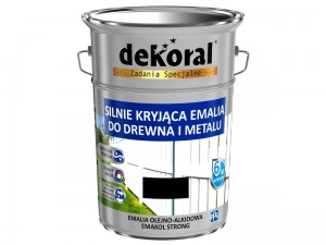 Enamel Dekoral Emakol Strong Black gloss 5L at Wasserman.eu