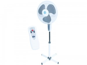 Pedestal fan with oscillation regulation and remote control at Wasserman.eu