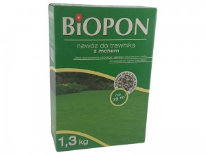 Biopon fertilizer for lawn with moss 1.3 kg at Wasserman.eu