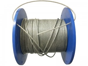 3mm steel rope in PVC. Cable for running meters at Wasserman.eu