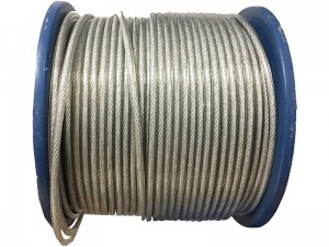 5mm steel rope in PVC. Cable for running meters at Wasserman.eu