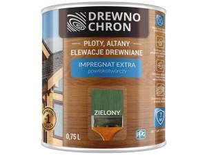Drewnochron Extra 0.75L Green film-forming impregnant at Wasserman.eu
